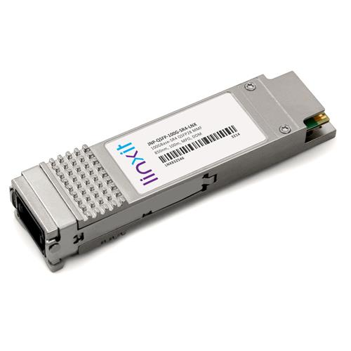 Picture of Juniper Networks® JNP-QSFP-100G-SR4 QSFP28 Compatible Transceiver 100GBase-SR4 850nm, 100m, MMF, DOM, MPO, TAA, RoHS