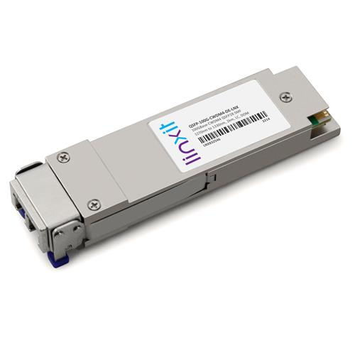 Picture of Dell® QSFP-100G-CWDM4 QSFP28 Compatible Transceiver 100GBase-CWDM4 1270nm to 1330nm, 2km, SMF, DOM, LC, TAA, RoHS